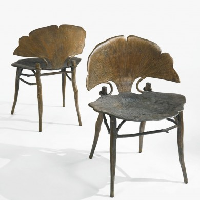 Ginkgo Brilliant Dining Chairs by Claude Lalanne | www.bocadolobo.com #diningchairs #moderndiningtables #chairs #interiordesign #roomdesign #productdesign #creatovedesign #artistic #ginkgo #diningroom #thediningroom #diningarea #diningareadesign @moderndiningtables