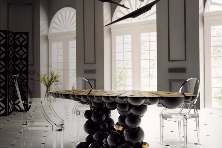 The Dining Table That Will Change Your Entire Interior Design | www.bocadolobo.com #moderndiningtables #diningtables #diningarea #diningroom #thediningroom #luxurybrands #creativefurniture #creativedesign #productdesign #handcrafted @moderndiningtables