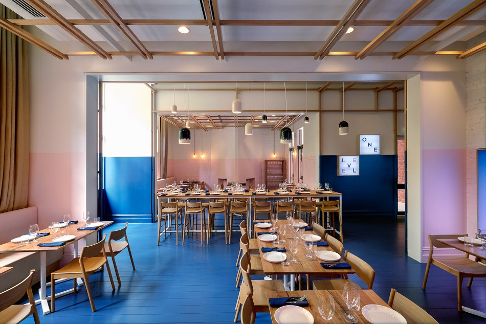 The Innovative Electric Blue Dining Area by Studio Gram