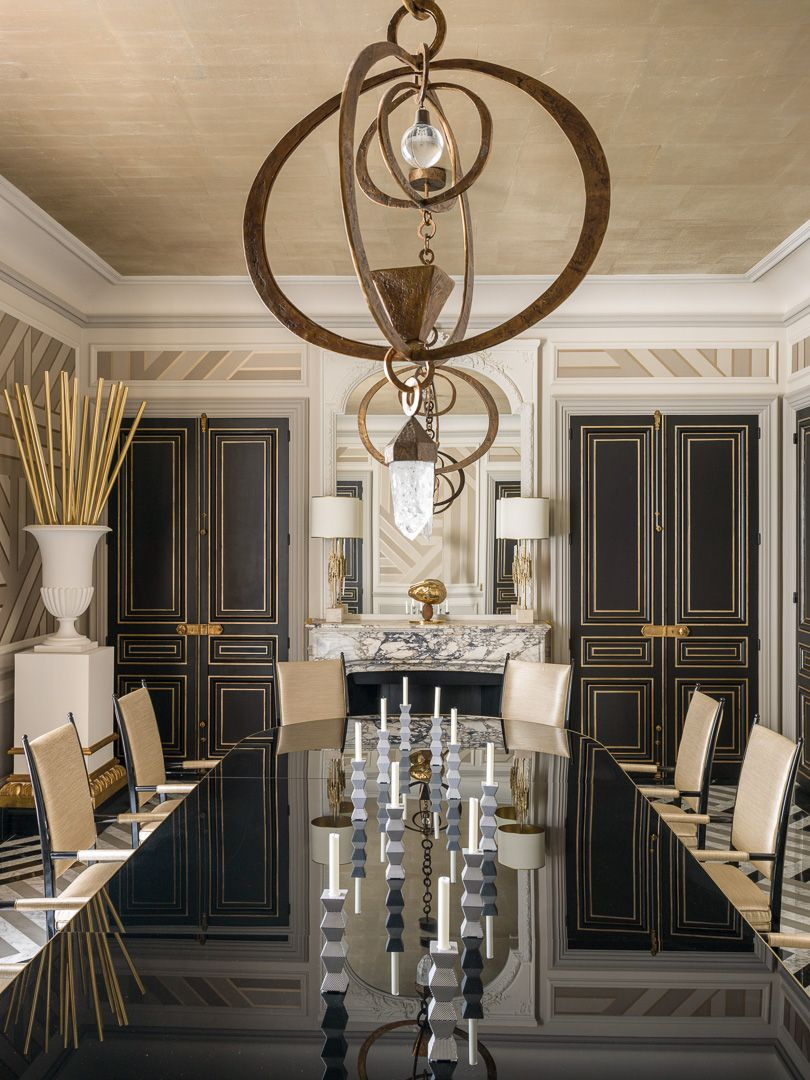 Exquisitely Chic Parisian Dining Design