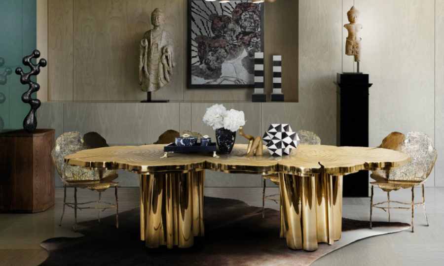 The Best Gold Dining Tables to Your Dining Room