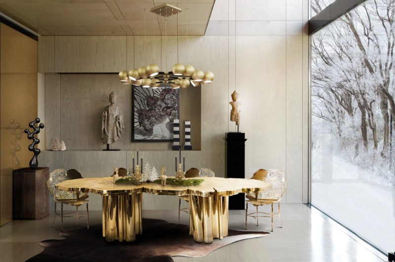 Contemporary Dining Tables for A Big Christmas Gathering