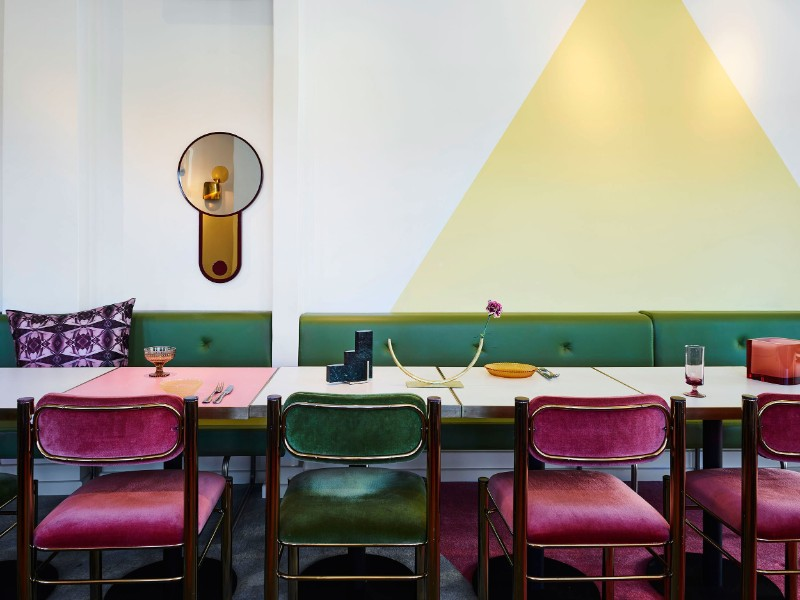 The Imperial Erskineville – A Kaleidoscope-Colored Design dining design The Imperial Erskineville – A Kaleidoscope-Colored Dining Design The Imperial Erskineville     A Kaleidoscope Colored Design 9