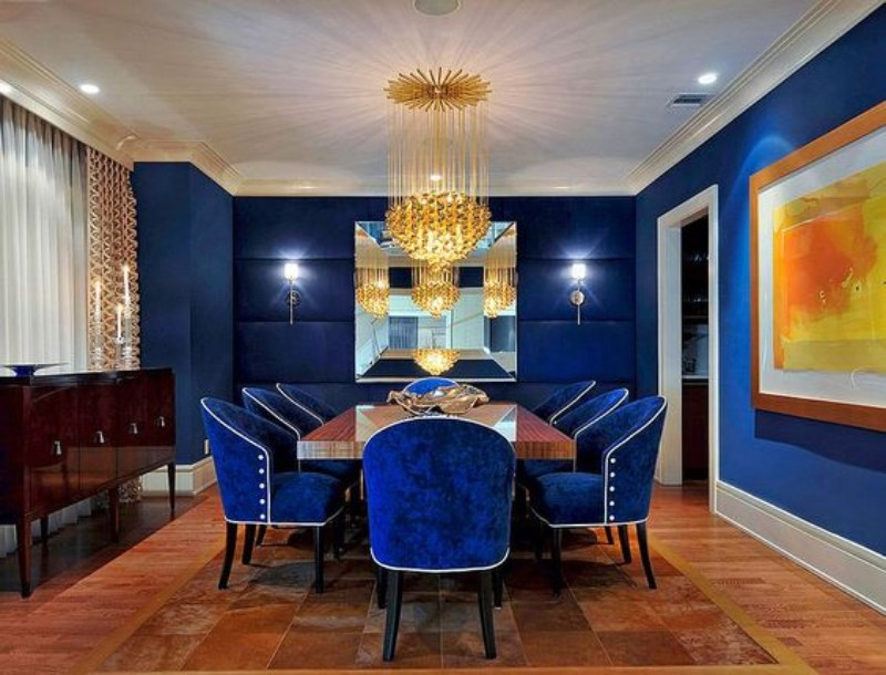 What's Hot On Pinterest: Astonishing Dining Rooms blue dining rooms What's Hot On Pinterest: Astonishing Blue Dining Rooms Whats Hot On Pinterest Astonishing Blue Dining Designs 2