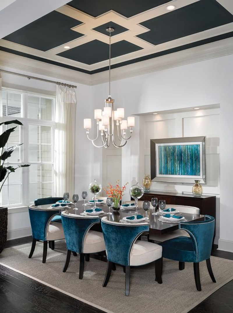 What's Hot On Pinterest: Astonishing Dining Rooms blue dining rooms What's Hot On Pinterest: Astonishing Blue Dining Rooms Whats Hot On Pinterest Astonishing Blue Dining Designs 4