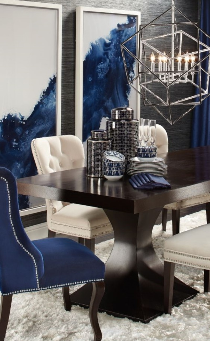 What's Hot On Pinterest: Astonishing Dining Rooms blue dining rooms What's Hot On Pinterest: Astonishing Blue Dining Rooms Whats Hot On Pinterest Astonishing Blue Dining Designs 5