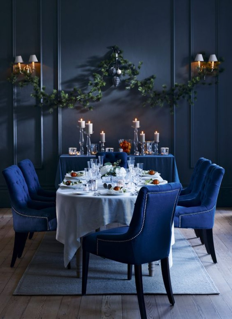 What's Hot On Pinterest: Astonishing Dining Rooms blue dining rooms What's Hot On Pinterest: Astonishing Blue Dining Rooms Whats Hot On Pinterest Astonishing Blue Dining Designs