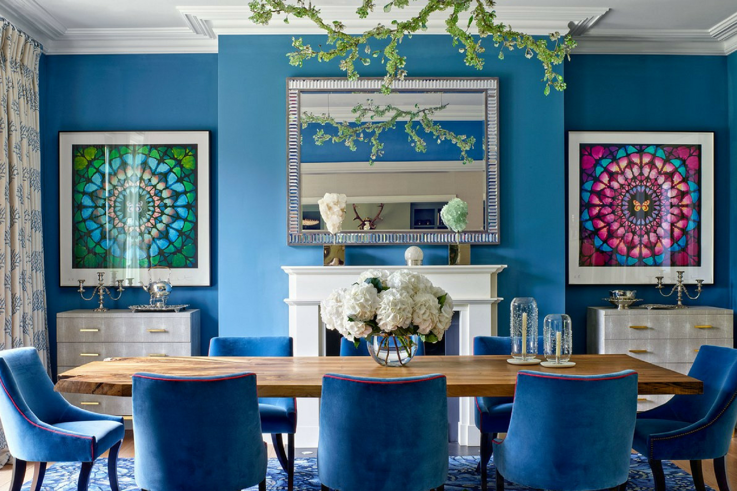 Blue Paint For Dining Room: What's Hot On Pinterest: Astonishing Blue Dining Rooms