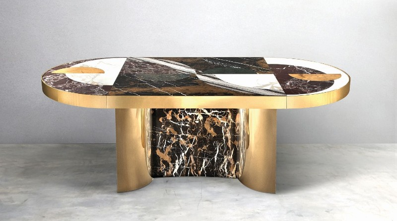 Half Moon Dining Table: An Iconic Piece By Lara Bohinc lara bohinc Half Moon Dining Table – An Iconic Piece By Lara Bohinc 319f6c47efd38bf6d0806600959fbc8f