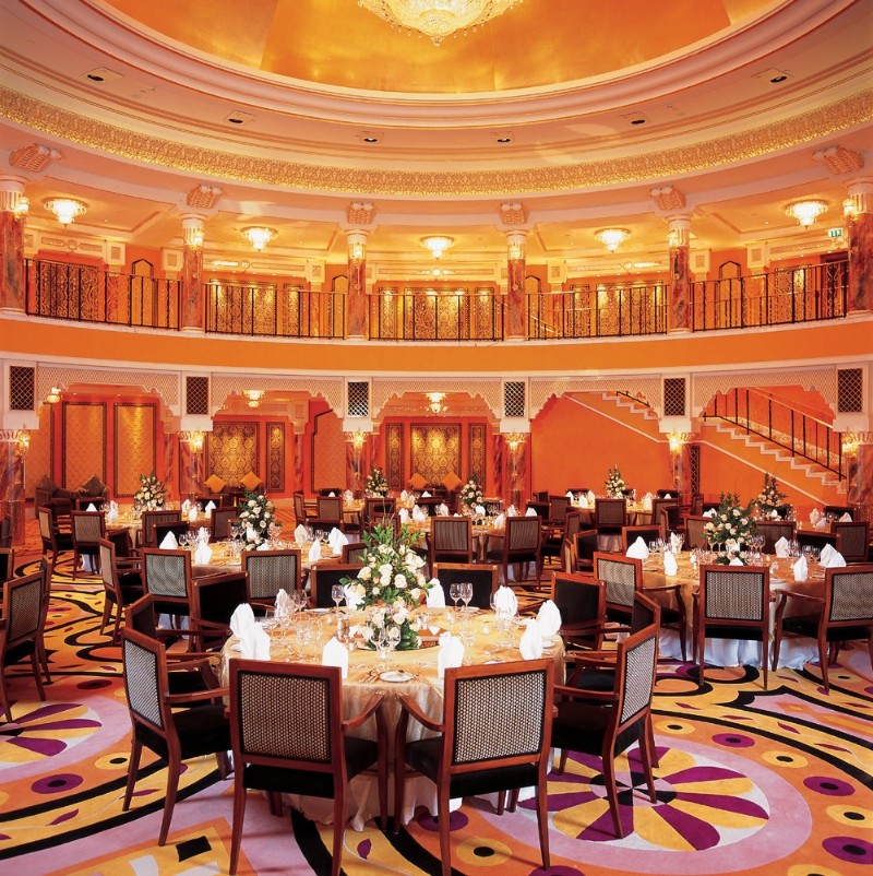 Top Luxury Dining Rooms By The Best Hotels In Middle East dining rooms Top Luxury Dining Rooms By The Best Hotels In Middle East Burj Al Arab 08 Al Falak Ballroom 2