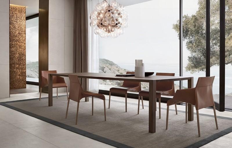 wooden dining tables Wooden dining tables to inspire you Poliform Varenna 2015 16 18560 11 2