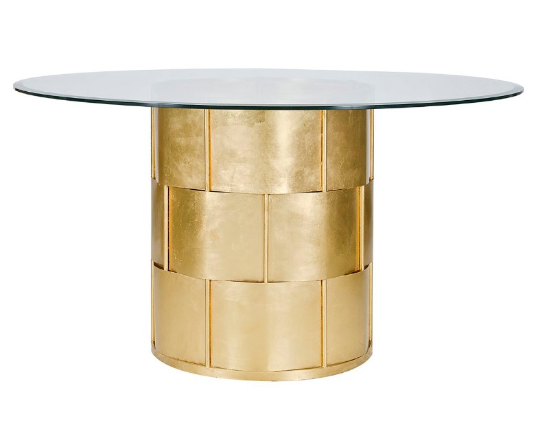 gold dining tables gold dining tables Gold Dining Tables With a Unique Design by Luxury Brands amanda basketweave dining table gold