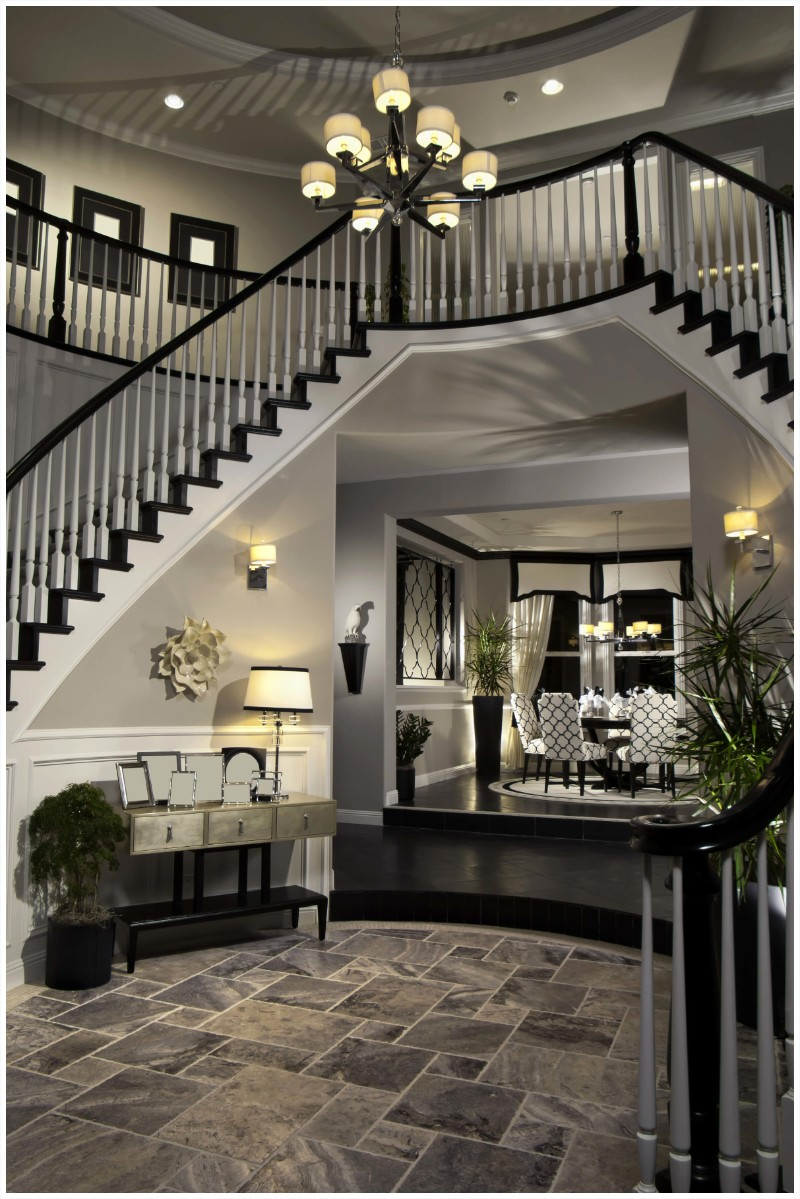 Black and White Entryway Decor Ideas You'll Fall In Love entryway decor Black and White Entryway Decor Ideas You'll Fall In Love luxury stone tiles for foyer and entrance black white idea dramatic entryway mudroom ideas how to make