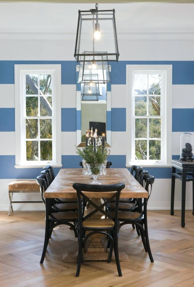 dining room walls dining room walls Original Ideas for Your Dining Room Walls stripe