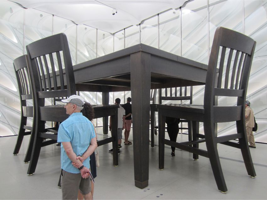 Under the Table: A Dining Experience by Robert Therrien