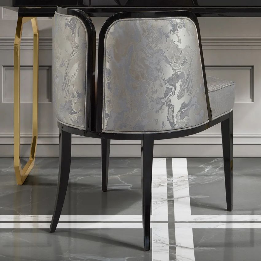 Modern Dining Chairs by Juliettes Interiors modern dining chairs Modern Dining Chairs by Juliettes Interiors Art Deco Inspired Luxury Designer Upholstered Dining Chair 1