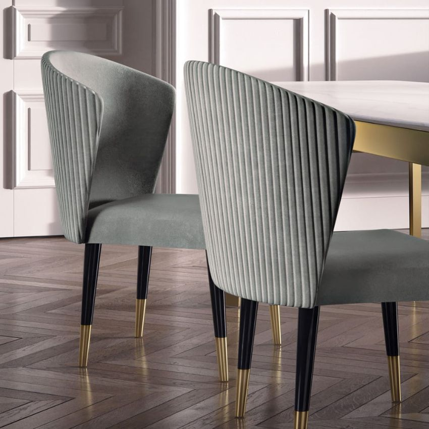 Modern Dining Chairs by Juliettes Interiors modern dining chairs Modern Dining Chairs by Juliettes Interiors Designer Italian Quilted Nubuck Occasional Chair 1