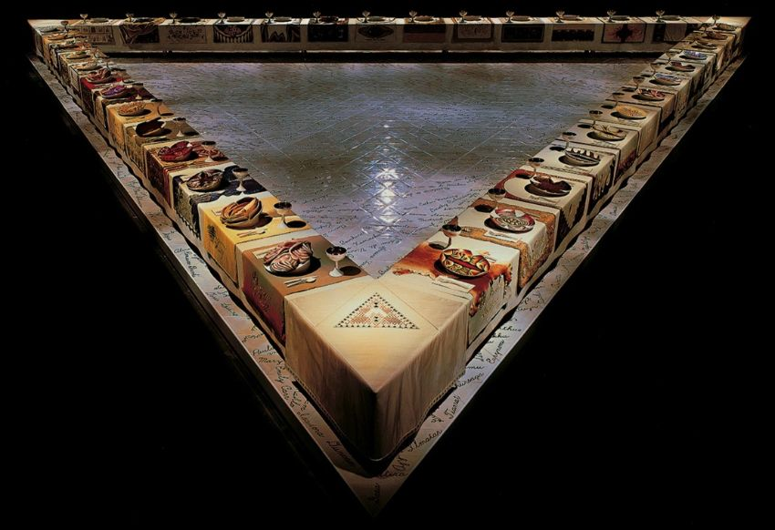 The Dinner Party by Judy Chicago at Brooklyn Museum judy chicago The Dinner Party by Judy Chicago at Brooklyn Museum The Dinner Party by Judy Chicago image courtesy of Things Magazine