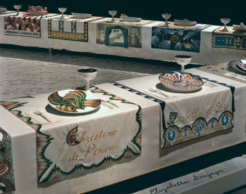 The Dinner Party by Judy Chicago at Brooklyn Museum judy chicago The Dinner Party by Judy Chicago at Brooklyn Museum Wing 2 Pisan Este