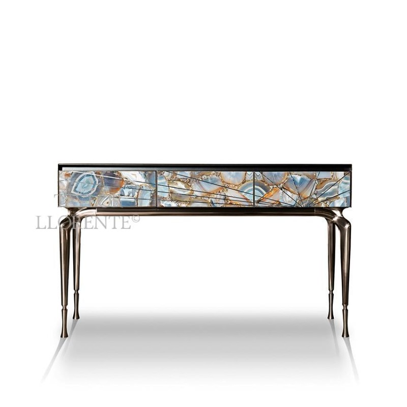 Luxury Console Tables With Drawers by Taylor Llorente console tables with drawers Luxury Console Tables With Drawers by Taylor Llorente architectural console table agate 1
