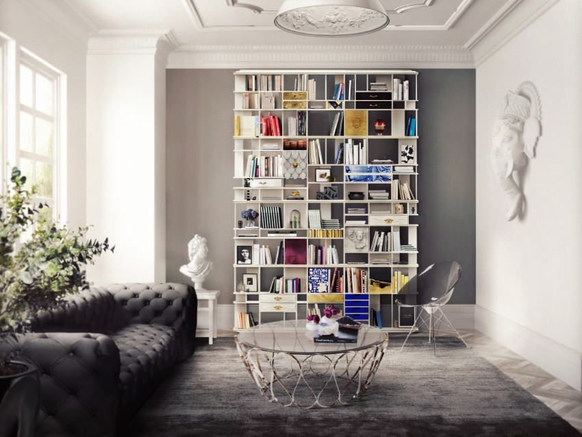 Salone Del Mobile 2019 – Dining Room Design by Boca do Lobo dining room design Salone Del Mobile 2019 – Dining Room Design by Boca do Lobo coleccionista custom bookcase shelf 03