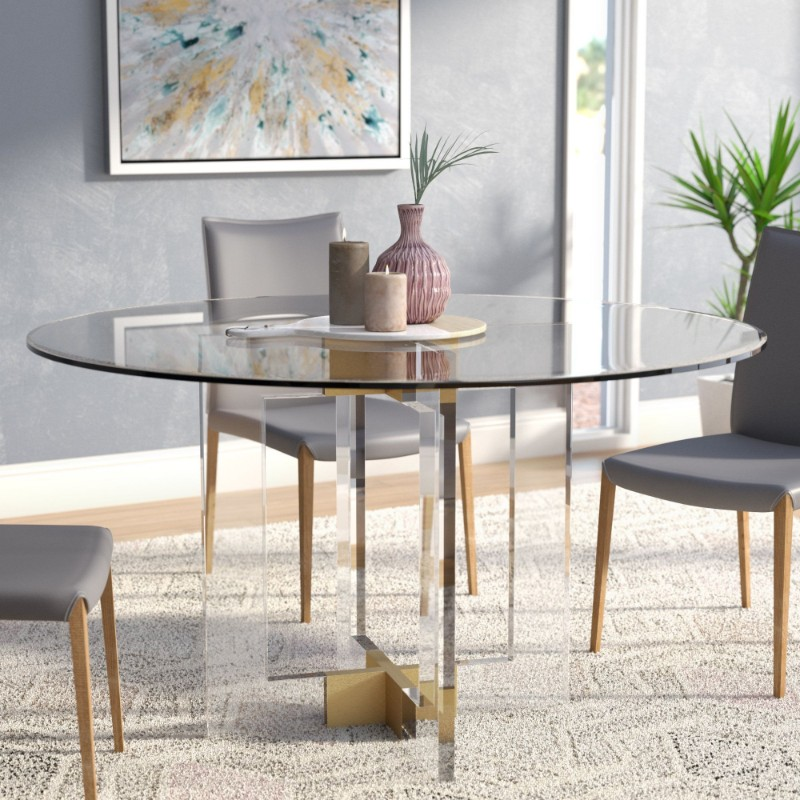 dining tables Best Materials for Contemporary Dining Tables glass2