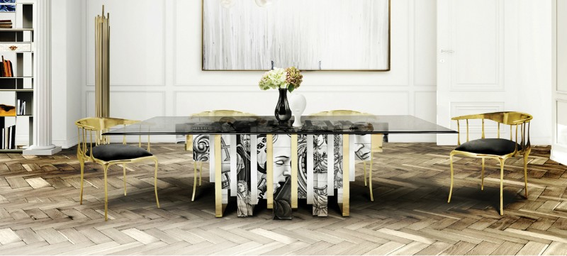 dining tables dining tables Best Materials for Contemporary Dining Tables glass3 1