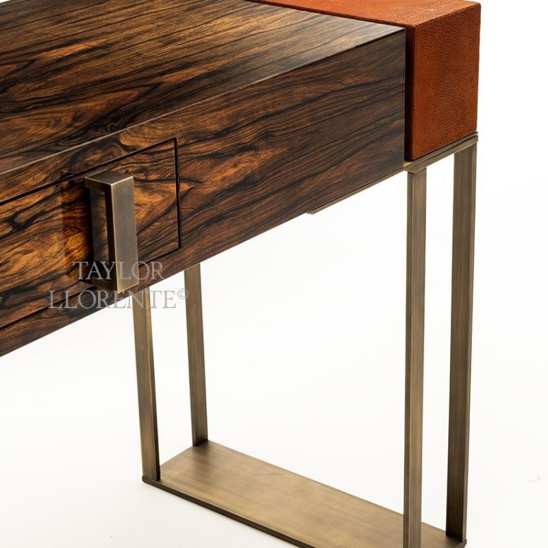 Luxury Console Tables With Drawers by Taylor Llorente console tables with drawers Luxury Console Tables With Drawers by Taylor Llorente macassar ebony console table 005m
