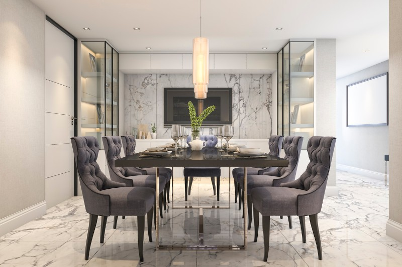 dining room Best Ideas for Your Dining Room Walls marble 2 1