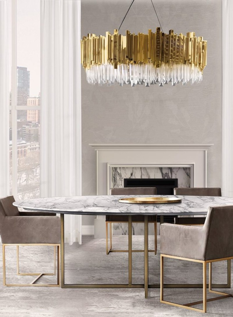 dining tables dining tables Best Materials for Contemporary Dining Tables marble