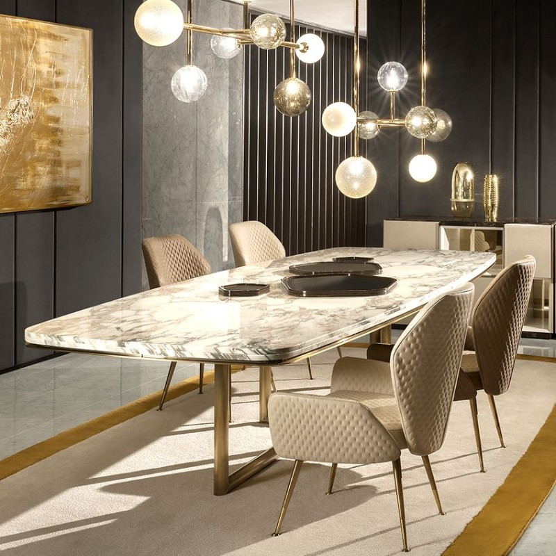 dining tables Best Materials for Contemporary Dining Tables marble2