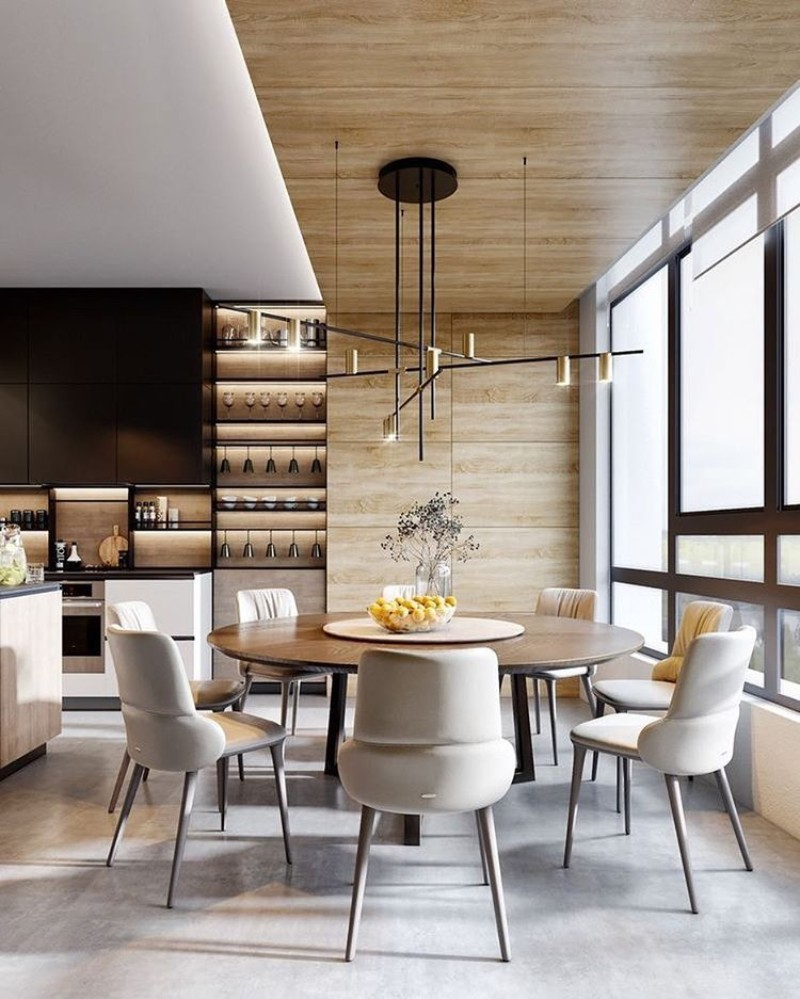 dining tables dining tables Best Materials for Contemporary Dining Tables wood2
