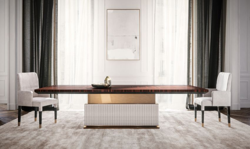 Luxury Dining Tables At The Showroom